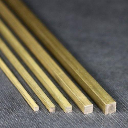 Tija pătrată Ø10x10mm - 15x15mm alamă 2.0401 tijă pătrată Ms58