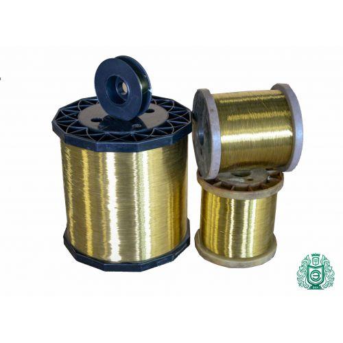 Sârmă de alamă de 2-500 metri Ø 0,1-0,6 mm 2,0401 sârmă artizanală Ms58 neacoperită, alamă