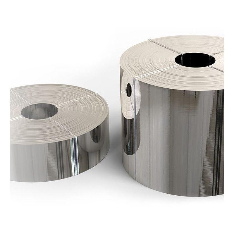 Bandă din oțel inoxidabil 1.4301 folie de 0,05x20mm până la 0,4x200mm bandă de tablă V2A 304