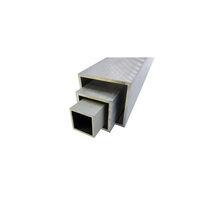 Tub pătrat din aluminiu 20x20x2-100x100x4mm AlMgSi0.5 tub pătrat 0,2-2 metri