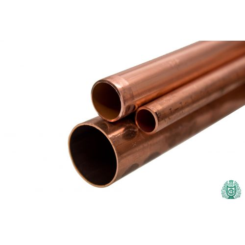 Copper pipe 3x0.5mm-54x1.5mm rod 2.0090 Aisi C11000 heating drinking water 0.1-2 meters, copper